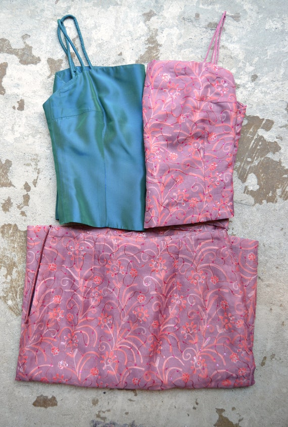 Vintage Skirt & Crop-tops Combo, size Extra Small