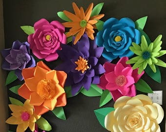 Giant Paper Floral Collage