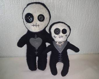 Gothic, emo Mama and baby strange alturntive toys