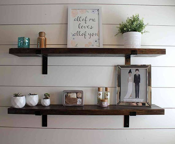 Fixer Upper Shelf Floating Shelves Industrial Shelf Wood