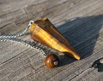 Tiger Eye Pendulum, Crystal Pendulum, Dowsing Pendulum, Divination Pendulum