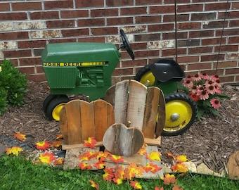 set of 3 rustic pumpkins