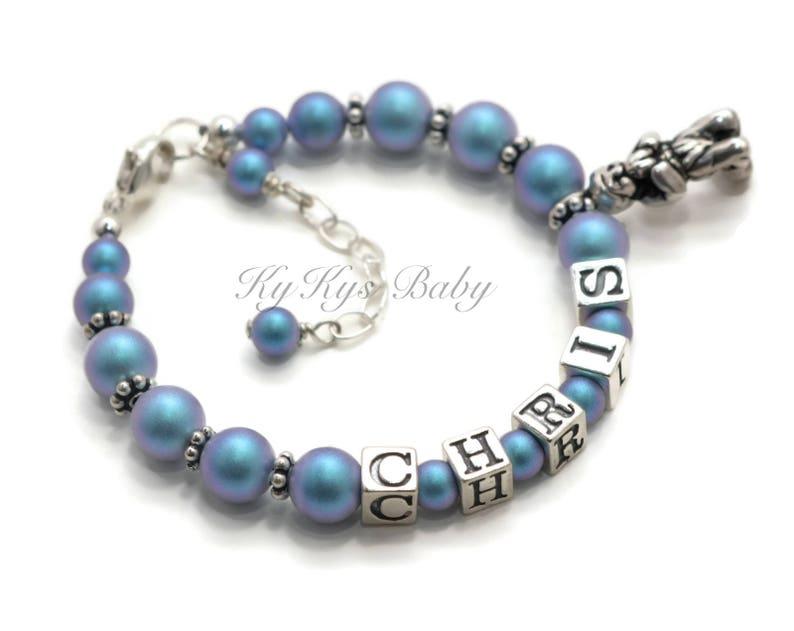 Boy Baptism Gift ~ Baby Bracelet ~ Boy Name Bracelet ~ Personalized Baby Bracelet ~ Boy Baptism Bracelet ~ Baby Boy Gift ~ FREE Gift Box