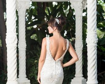 designer wedding gown sample RB355