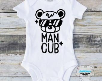 Man Cub onesie, Baby gift, Baby Onesie, Custom Onesies