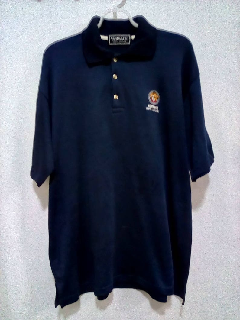 7ebb5b233 Vintage Versace Jeans Couture Embroidered Logo Spell Out T   Etsy