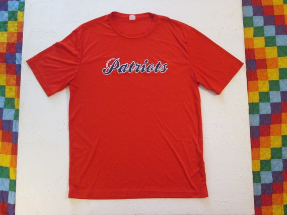 New England Patriots T Shirt Sport Tek Polyester Athletic Etsy The latest national football league breaking news. etsy