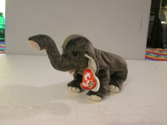 Vintage 2000 Ty Beanie Babies Collection Trumpet The Elephant  22fed9f8c2e