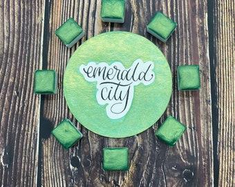 Emerald City Green Shimmer/Metallic Half Pan Single