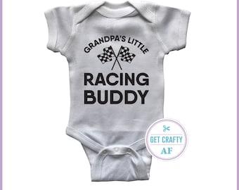 314da2c328 Grandpa s   Grandma s   Daddy s   Mommy s   Auntie s   Uncle s Little  Racing Buddy - Baby Bodysuit