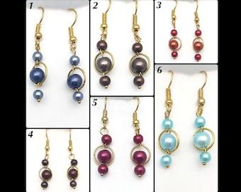 """Earrings """"Saturn""""."""