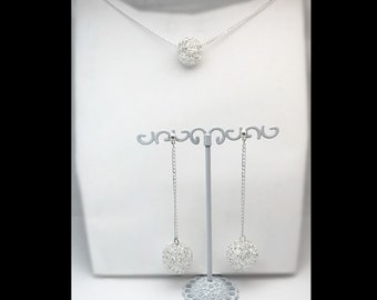 """""""Interwoven"""" parure necklace and matching earrings."""