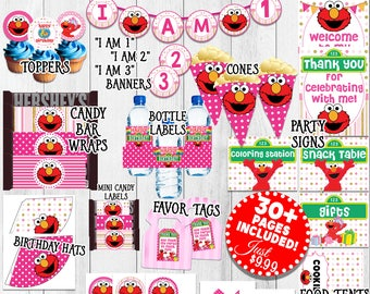 Girl Elmo Birthday Decorations Pink Party Printable 1st For Sesame Street