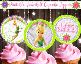 tinkerbell cupcake toppers tinkerbell fairy cupcake toppers fairy cupcake toppers printable tinkerbell theme neverland party printables