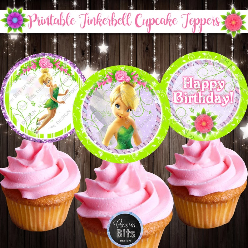 Tinkerbell Cupcake Toppers Fairy