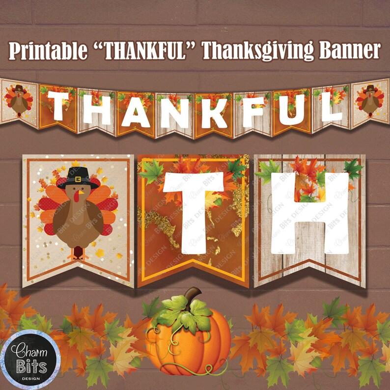 graphic regarding Thanksgiving Banner Printable referred to as Grateful Thanksgiving Hearth Mantle Banner, Printable Thanksgiving Banner, Thanksgiving Hearth Decor, Thanksgiving Wall Decorations