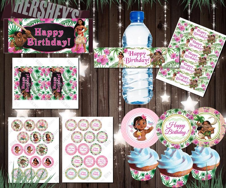 Moana Birthday Moana Birthday Decorations Moana Party Etsy