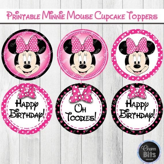 picture about Minnie Mouse Printable titled Red Minnie Mouse Cupcake Toppers, Minnie Mouse Cake Topper, Minnie Mouse Decorations, Minnie Mouse Printables Attraction Bits Style