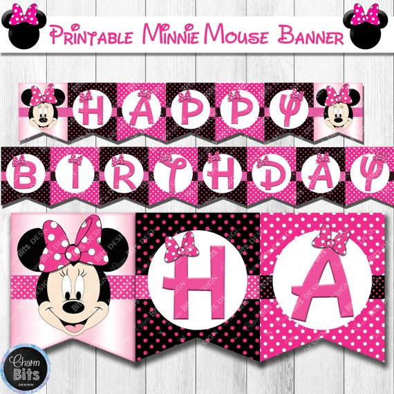 picture regarding Minnie Mouse Printable identify Minnie Mouse Banner Printable, Minnie Mouse Birthday Banner, Minnie Mouse Social gathering, Red Minnie Mouse Celebration Decorations, Minnie Mouse Printable