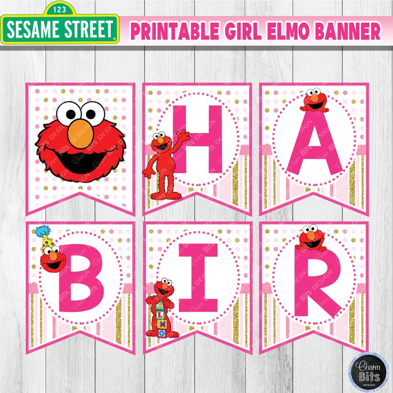 picture relating to Birthday Banner Printable identify Woman Elmo Birthday Banner Printable, Purple Elmo Occasion Printable, Female Sesame Road Birthday, 1st Birthday, Elmo Popularity Banner Printable