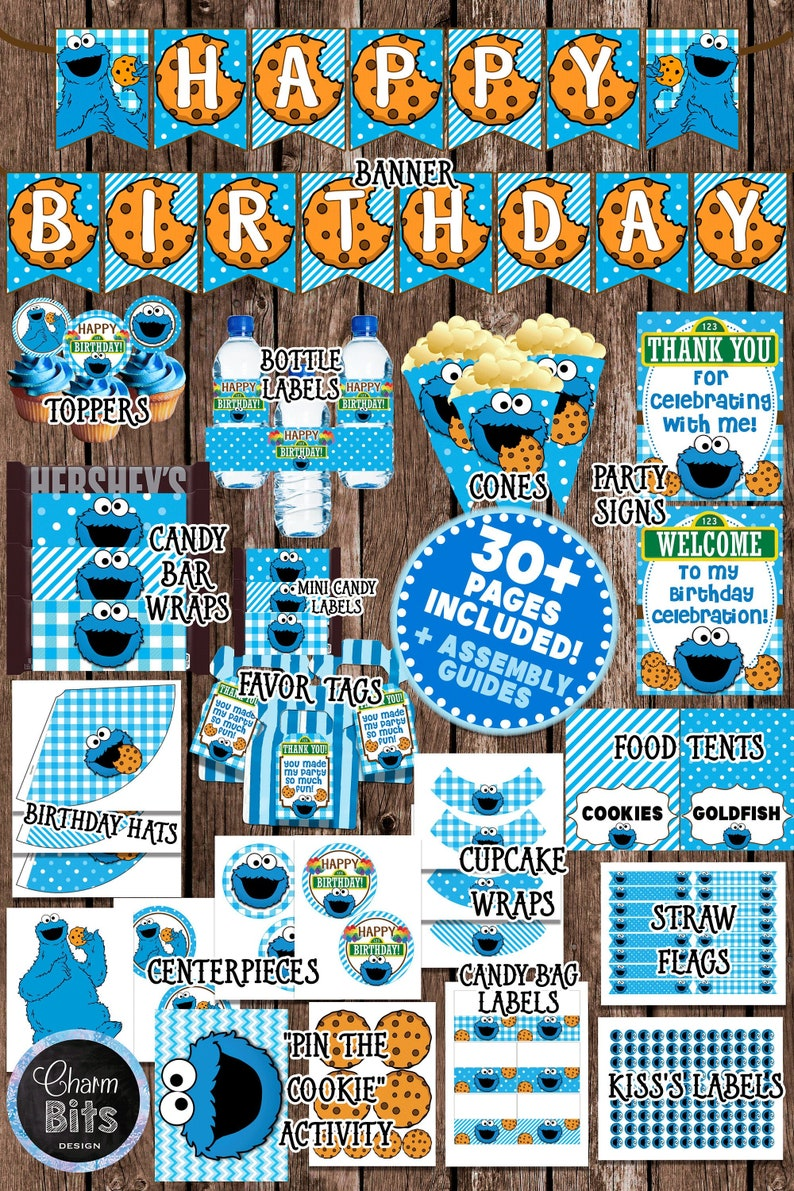 Cookie Monster Party Birthday Decorations