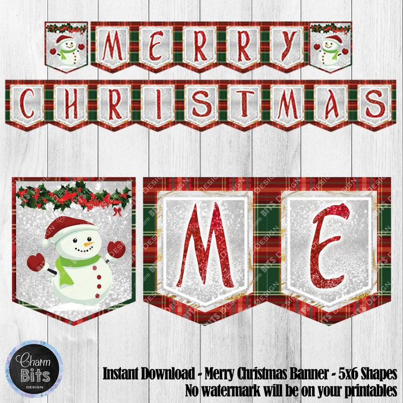 photo about Printable Merry Christmas Banner known as Printable Merry Xmas Banner, Mantle Decor, Festive Xmas Banner, Snowman Printable, Fireside Banner, Crimson Trip Decorations