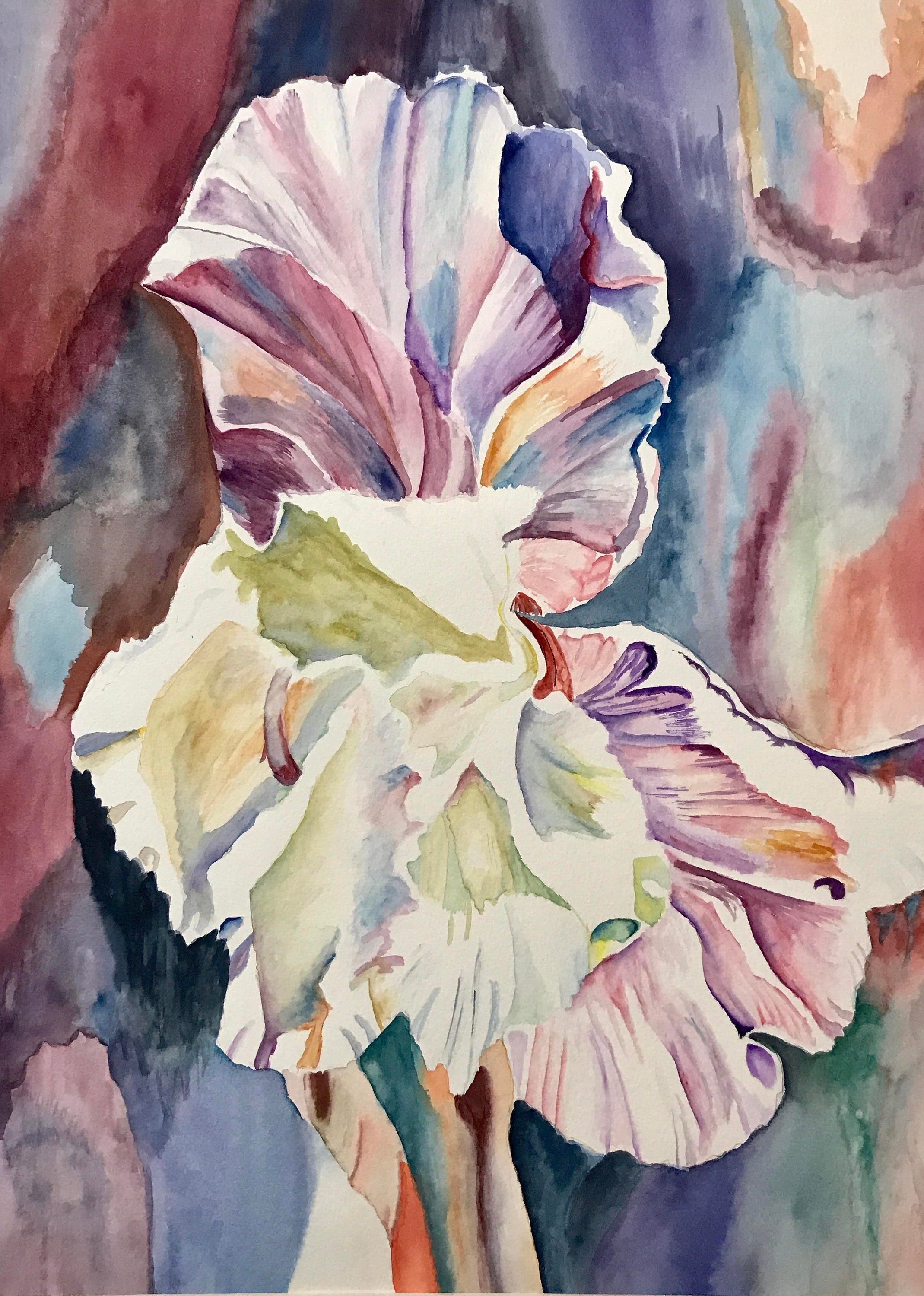 Watercolor Flowers Vibrant Watercolor Iris Flower Offered In Etsy