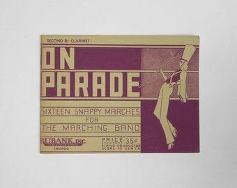 1936 On Parade Music Sheet. Marching Band.
