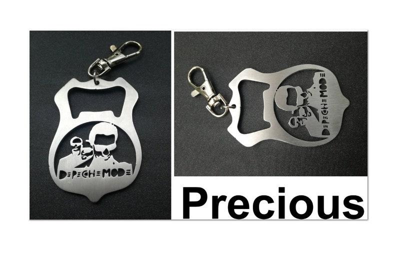 BOTTLE OPENER Stainless steel keyring keychain Schlüsselanhänger porte-clés
