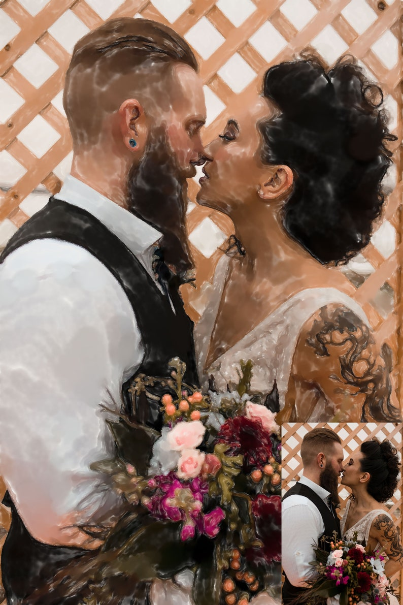 Personalized Watercolor Couple Painting Painting Picture Custom Couple Painting in watercolor Wedding Picture Painting Watercolor Couple