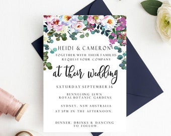 Wedding invitation- instant download-wedding inviteprintable wedding invite-editable wedding invitation-editable invitations-diy invitations