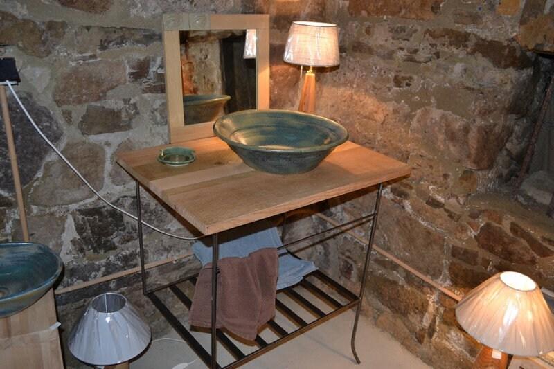 vasque en gres Meuble pour salle de bain avec vasque en grès | Etsy