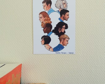 faffe7e3e28e Sense8 - Small print card - 18 x 13 cm