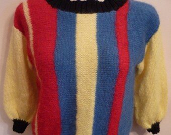 HAND KNITTED - MOHAIR Jumper - Size 10 to 12 - New