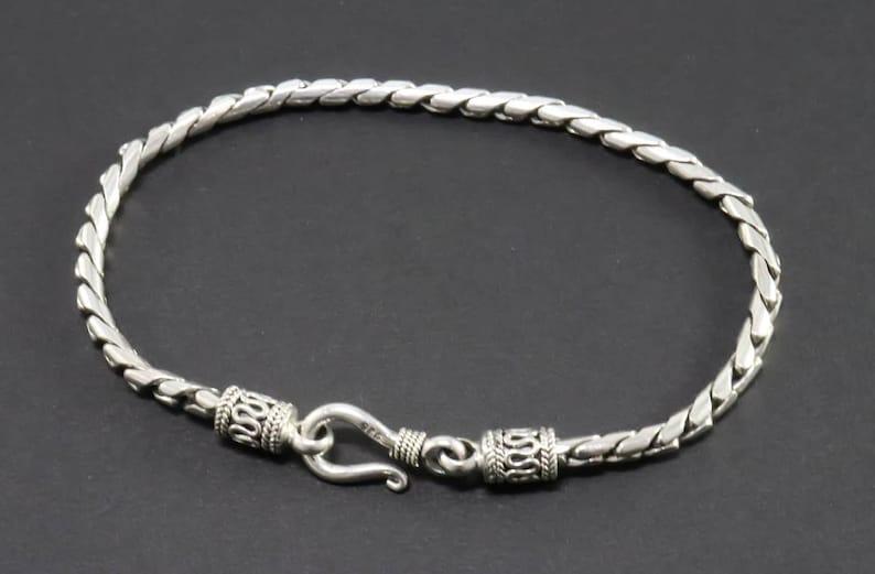 Bali Sterling Silver Bracelet Handmade Silver Bracelet Unisex Silver Bracelet