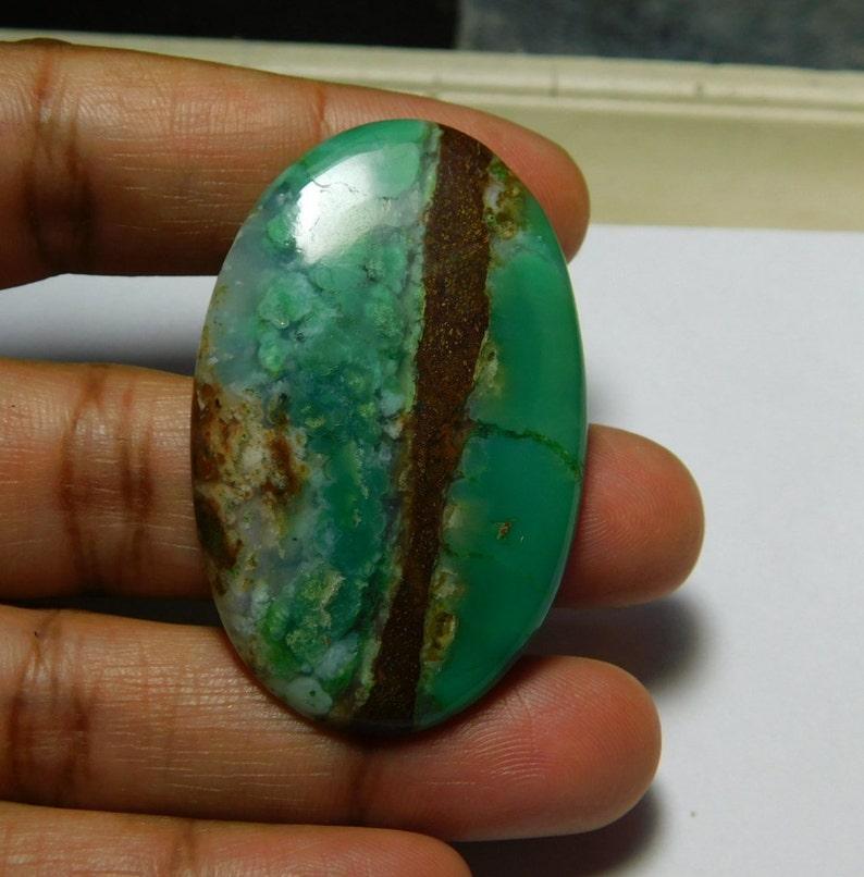 Top Quality Chrysoprase Gemstone,Chrysoprase Cabochons,Chrysoprase Loose Gemstone,Chrysoprase Loose Stone,For Jewelry Use53ct #3361 42X26mm