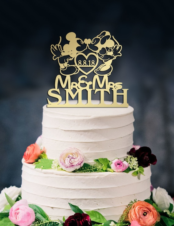Disney Wedding Cake Topper Mickey Minnie Cake Topper Etsy