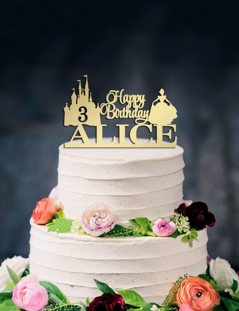Happy Birthday Cake Topper Disney Cinderella