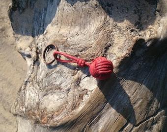 Porte-clés - Pomme de touline noeud marin en coton