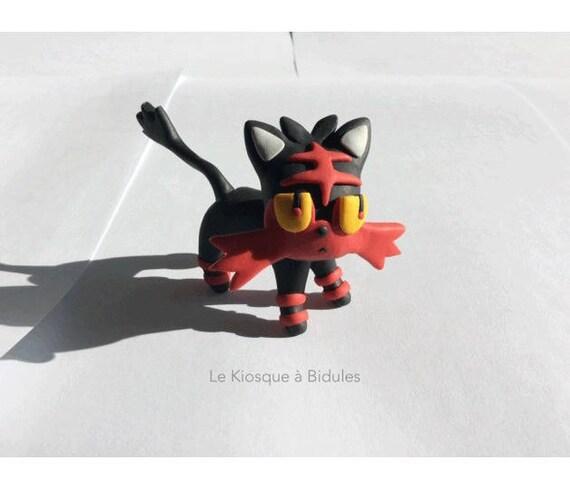 Figurine en fimo Flamiaou de Pokémon Soleil Lune   Etsy dc7b97ede3d6