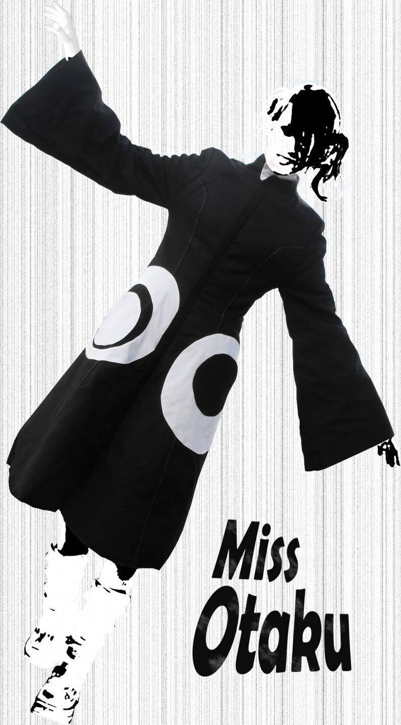Miss Otaku Long coat for black and white woman