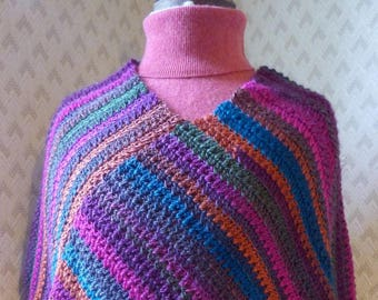 long crocheted poncho