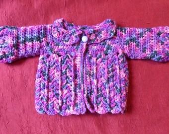 Purple Heather yarn baby vest