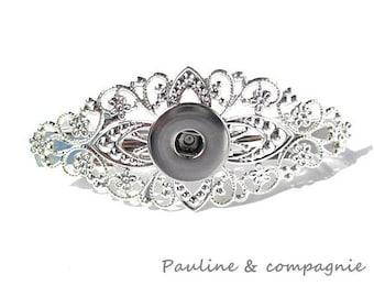 Silver holder for Chunk snap hair clip