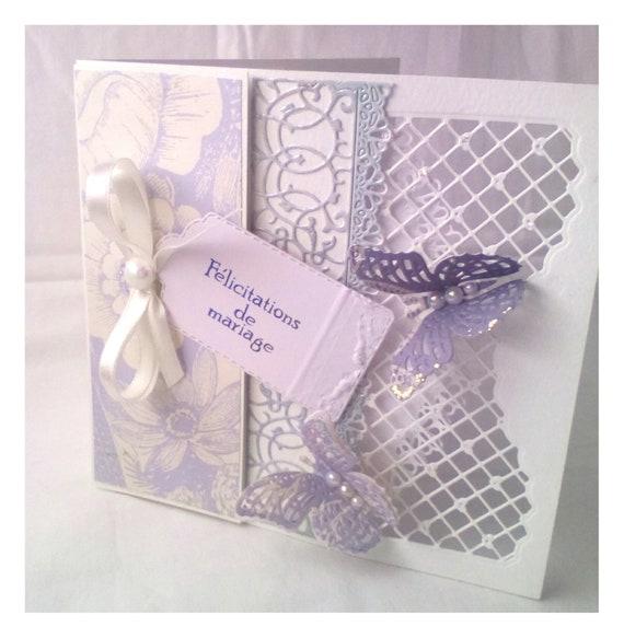 Félicitations De Mariage Carte Personalized Wedding Card Handmade Card