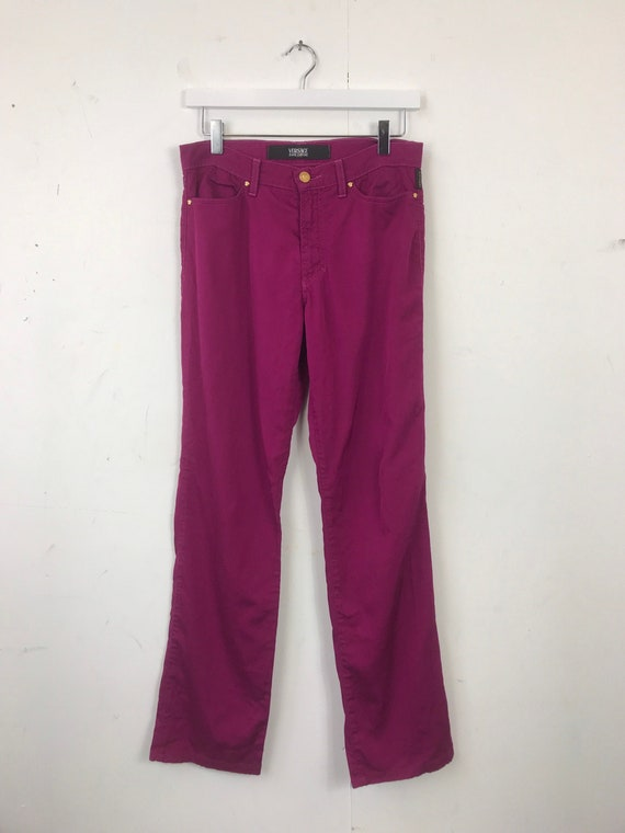 Vintage 90s 00s Purple Pink Versace Jeans Couture