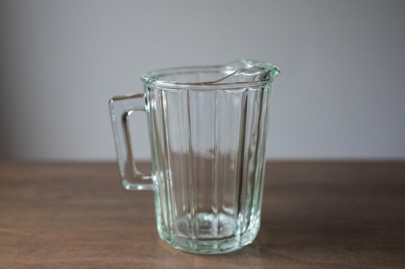 Vintage Clear Glass Pitcher image 0