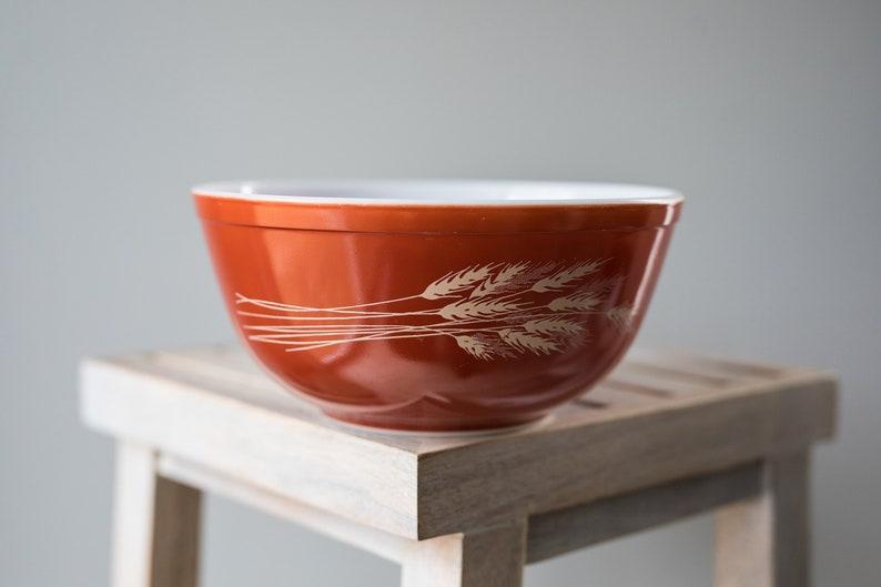 Vintage Pyrex 403 Autumn Harvest Orange Nesting Mixing Bowl image 0