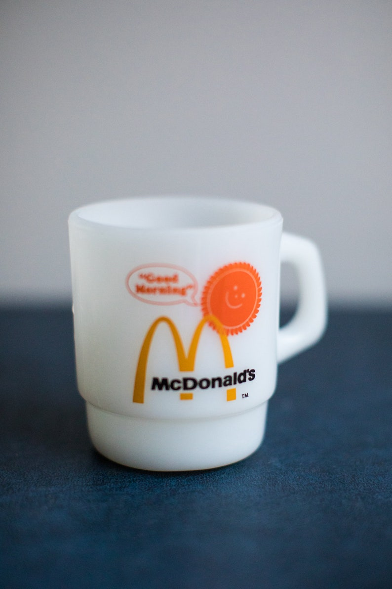 Vintage McDonalds Milk Glass Coffee Cup / Tea Cup image 0