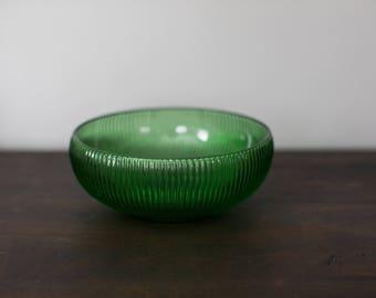 Vintage E.O. Brody Co Green Glass Bowl